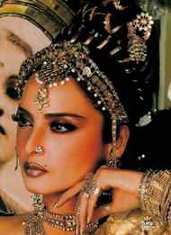 Rekha If there's one woman who can pull off wearing gold from head to toe, it's Rekha. Her career - now spanning 40 years - is mainly thanks to her ability to reinvent herself in every role.