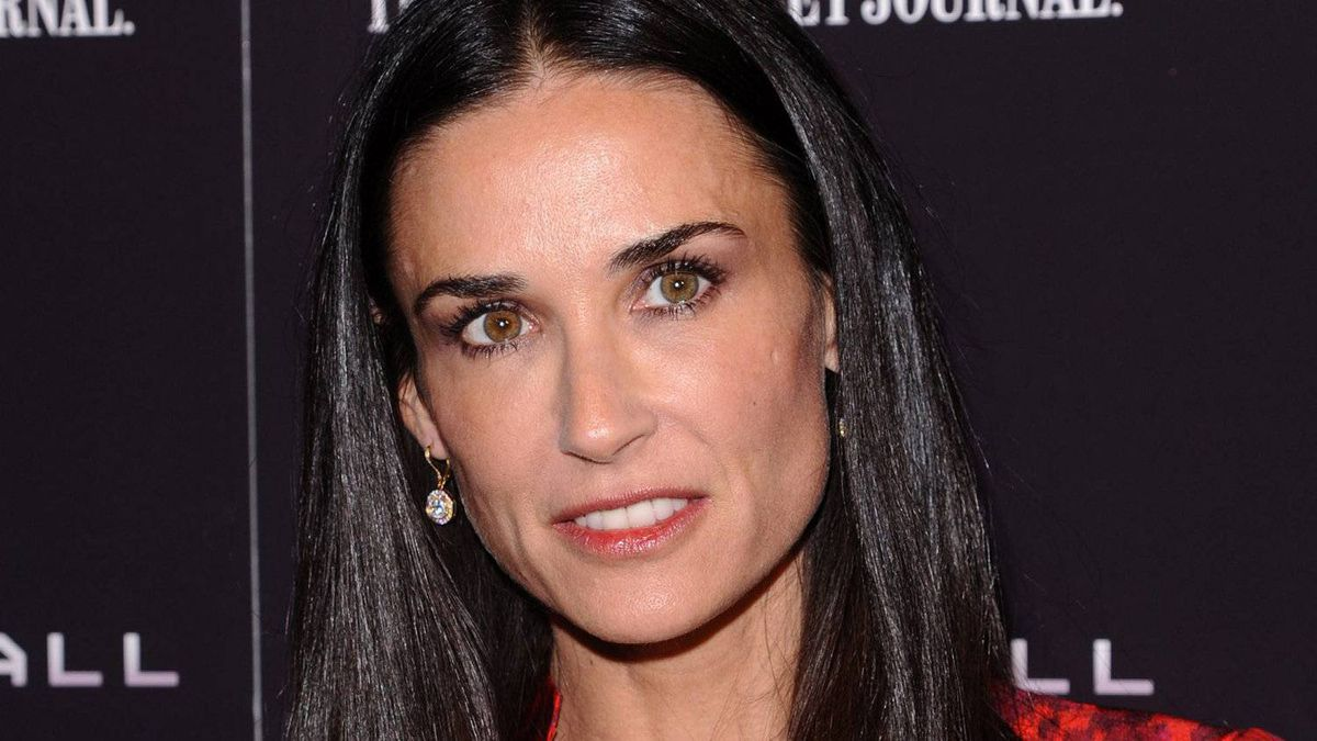 """Aactress Demi Moore attends the premiere of """"Margin Call"""" in New York on Oct. 17, 2011."""