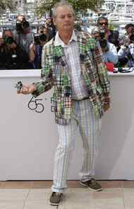 "Bill Murray sports more bad checks than a Greek bank during a photo call for ""Moonrise Kingdom"" at the Cannes Film Festival on Tuesday."