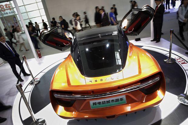 Beijing Auto Show Tesla A Electric Sports Car And VWs - Autoshow
