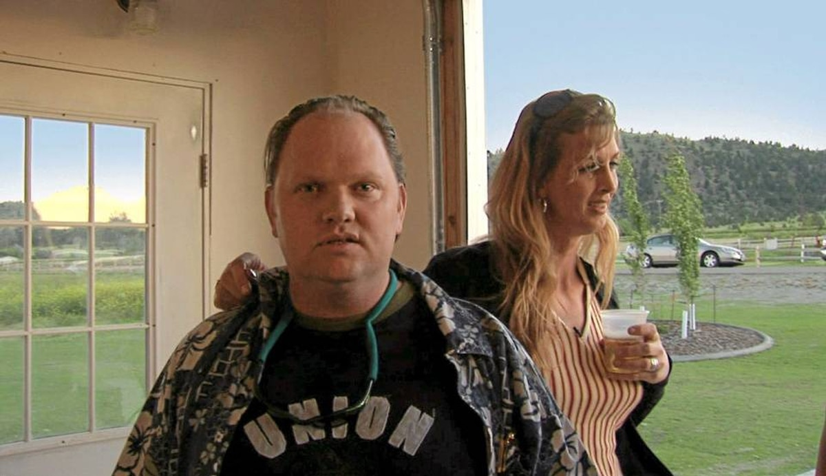 Marc McKerrow and Kimberly Reed at their High School reunion in Montana, as seen in Prodigal Sons. Reed directed the film as well.