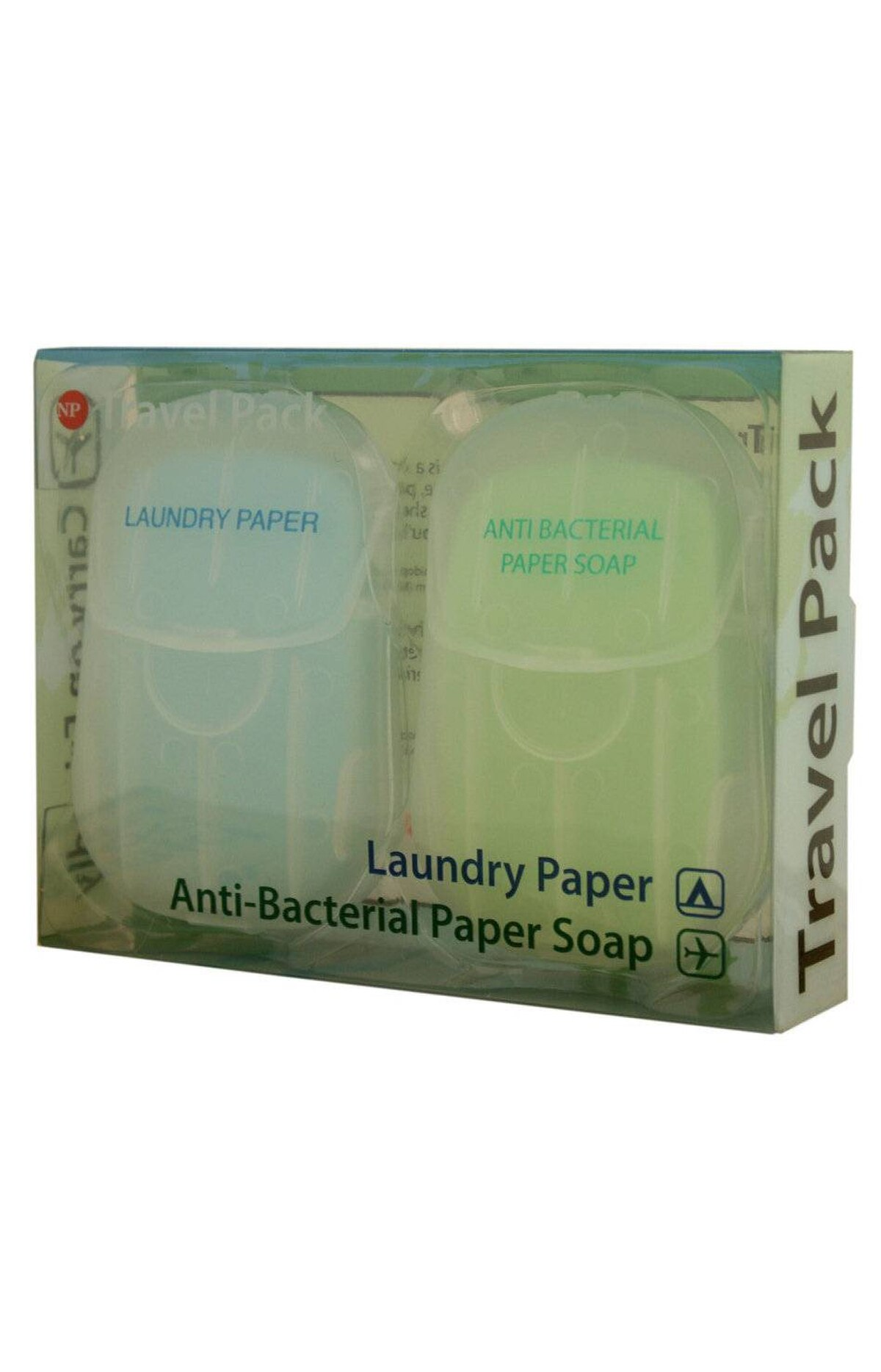 Sheets of soap Ever been faced with an empty soap dispenser in a public washroom? Stay fresh wherever you go with the pocket-sized Paper Soap Travel Pack. Its antibacterial soap sheets are carry-on friendly and dissolve as soon as water is added. The set also comes with laundry sheets that can be used for emergency stain cleanups. $10 (U.S.); flight001.com