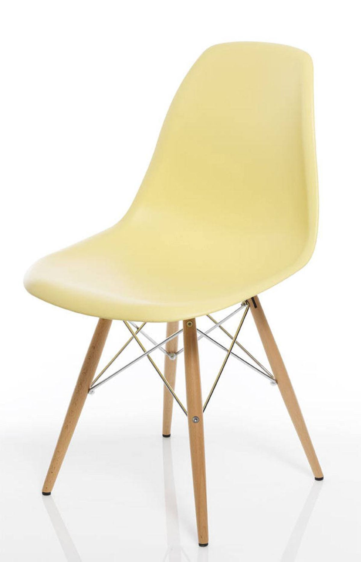 TREND: PASTELS Reproduction Eames DSW chair, $128 at Morba (www.morba.ca).