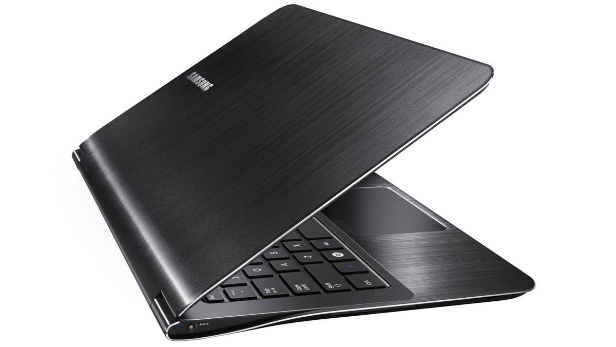 The Samsung Series 9 laptop is a little more than half an inch thick and weighs 1.3 kilograms.