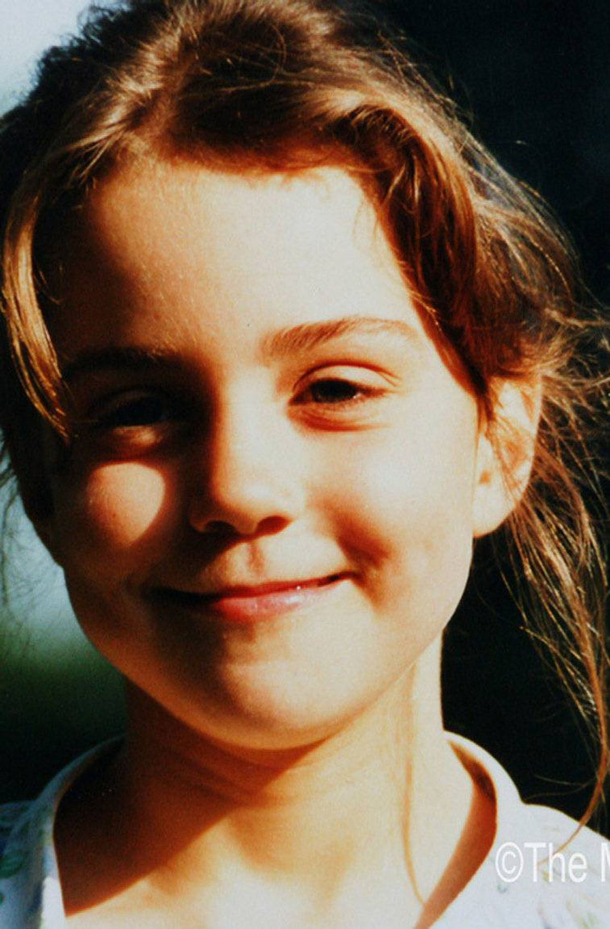 Kate Middleton, aged five. Family photos of Ms. Middleton were released Monday ahead of her wedding to Prince William next month.