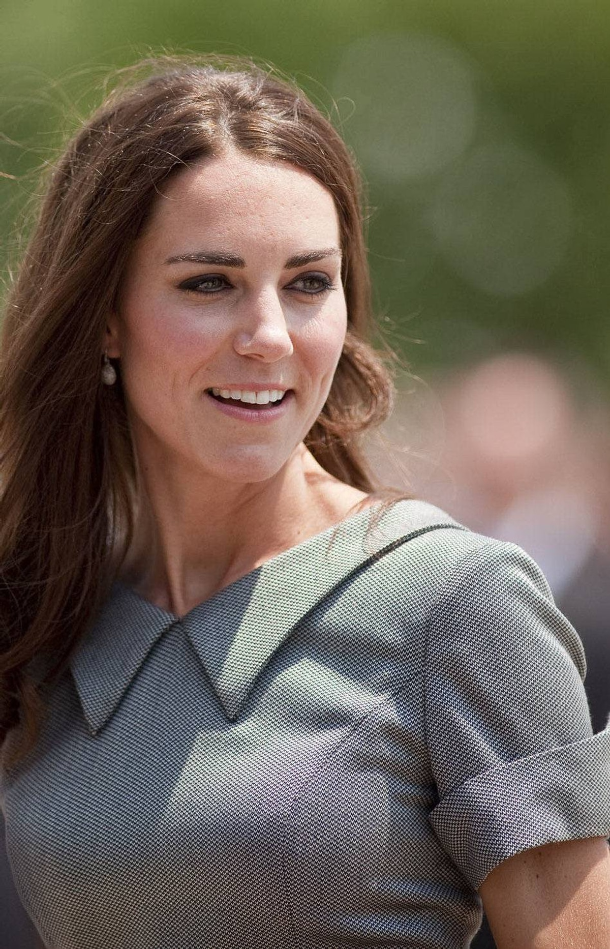 Catherine, Duchess of Cambridge, arrives for a tour the War Museum in Ottawa on July 2, 2011, the third day of a nine-day tour of Canada.