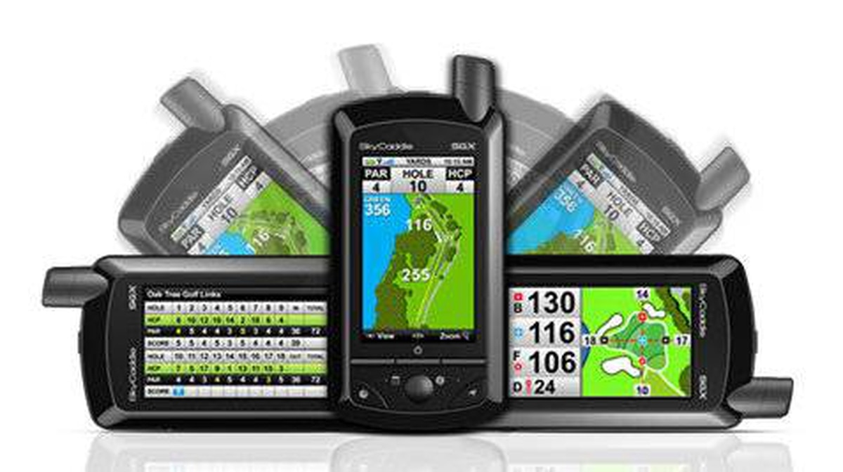 The expensive handheld device delivers exact yardage from your position to any spot on a given hole or green
