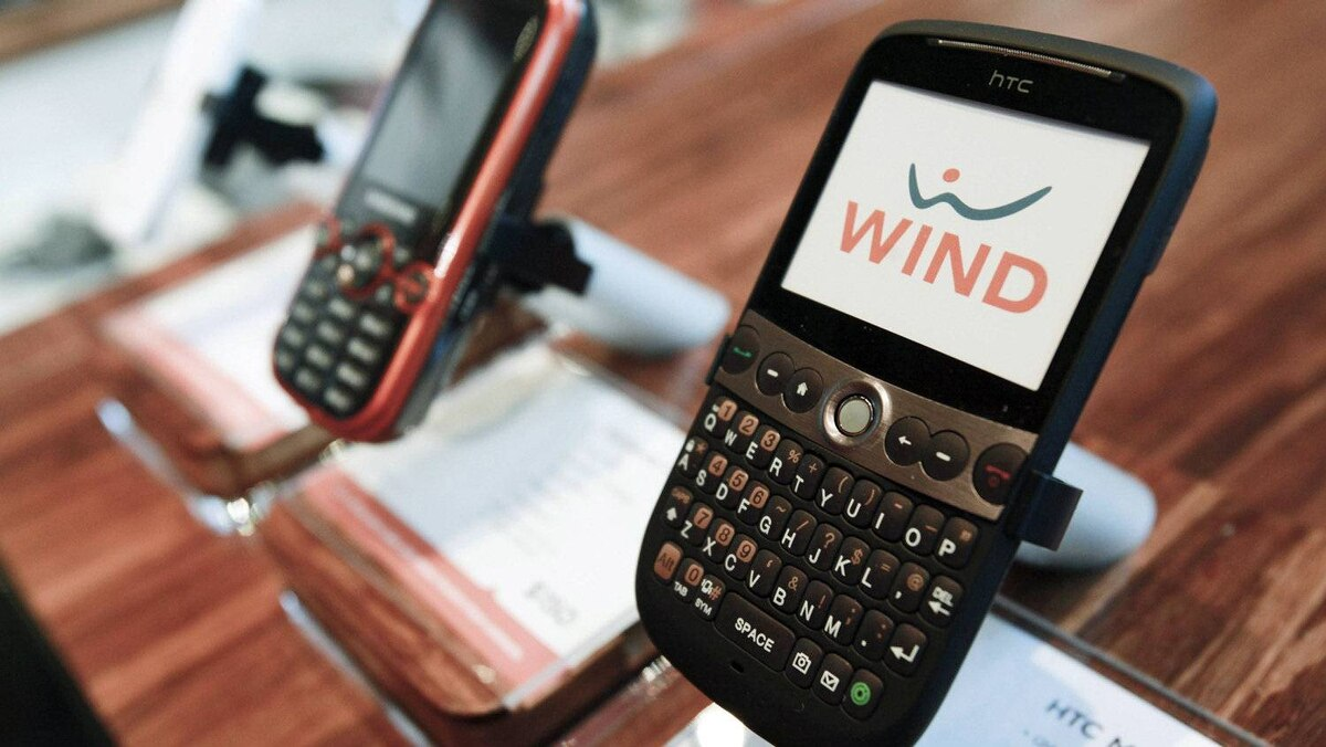 Globalive's WIND Mobile phones are displayed at a retail store in Toronto on Dec. 16, 2009.