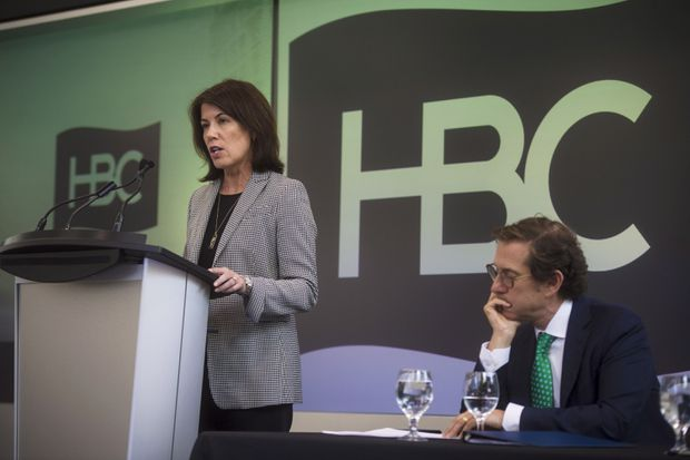 HBC CEO won't receive half of $21-million stock package if company goes private