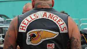 A member of the Hells Angels seen here on August 12, 2010.