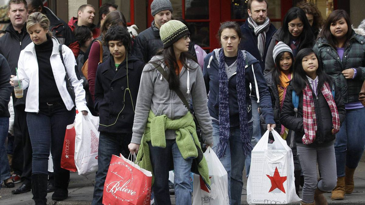 Shoppers in Seattle on last year's Black Friday. For dedicated deal hunters on both sides of the border, Black Friday in the U.S. is hands down the biggest shopping day of the year.