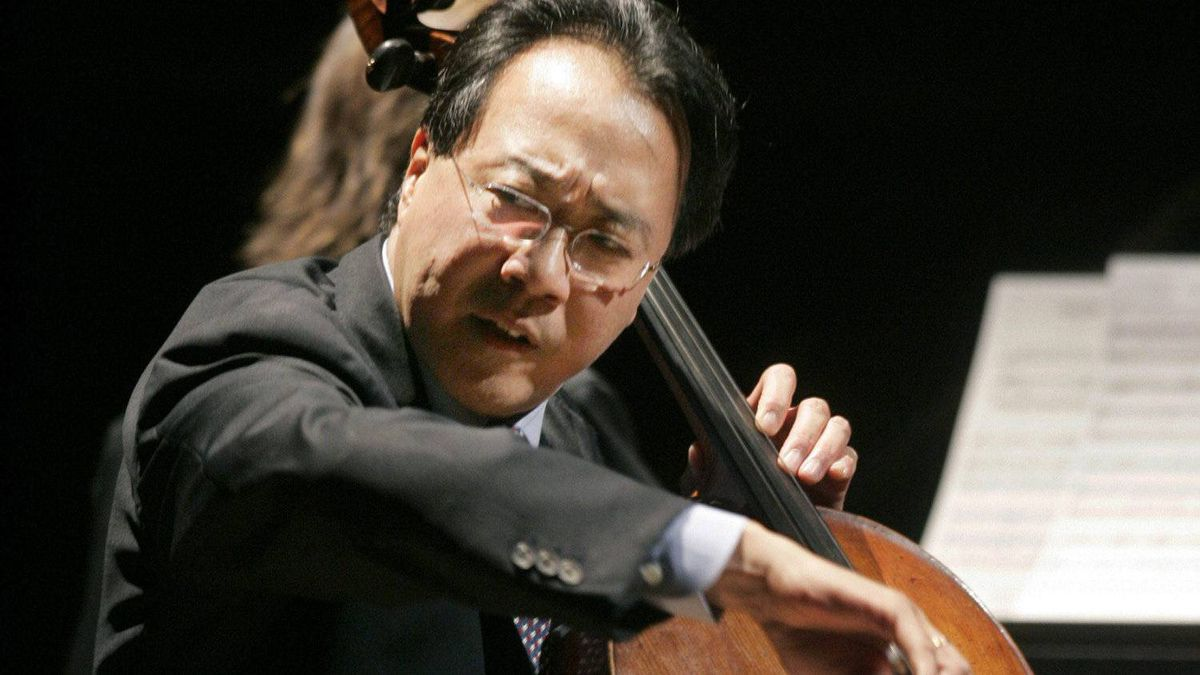 In this Dec. 1, 2008, file photo, cellist Yo-Yo Ma plays during a convocation in Cambridge, Mass.