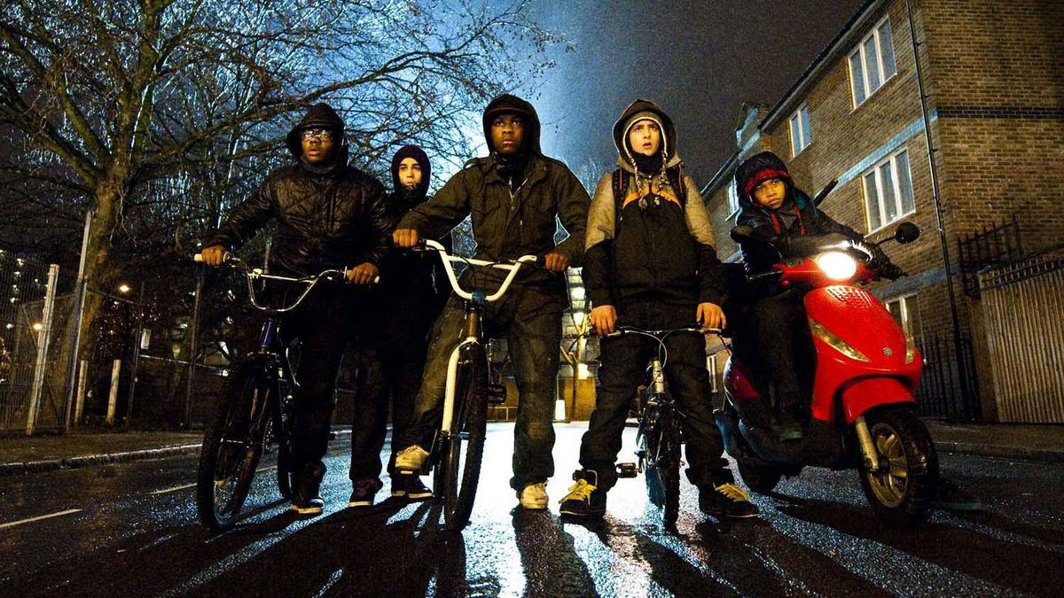 """A scene from """"Attack the Block,"""" an English film shot entirely on location in Brixton, South London"""