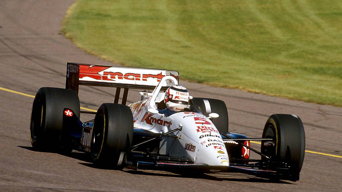 1993 New England 200 Reigning Formula One World Champion Nigel Mansell celebrated his 40th birthday with a daring outside pass on Paul Tracy with three laps left to take the win in Loudon, N.H., by 0.45 seconds.