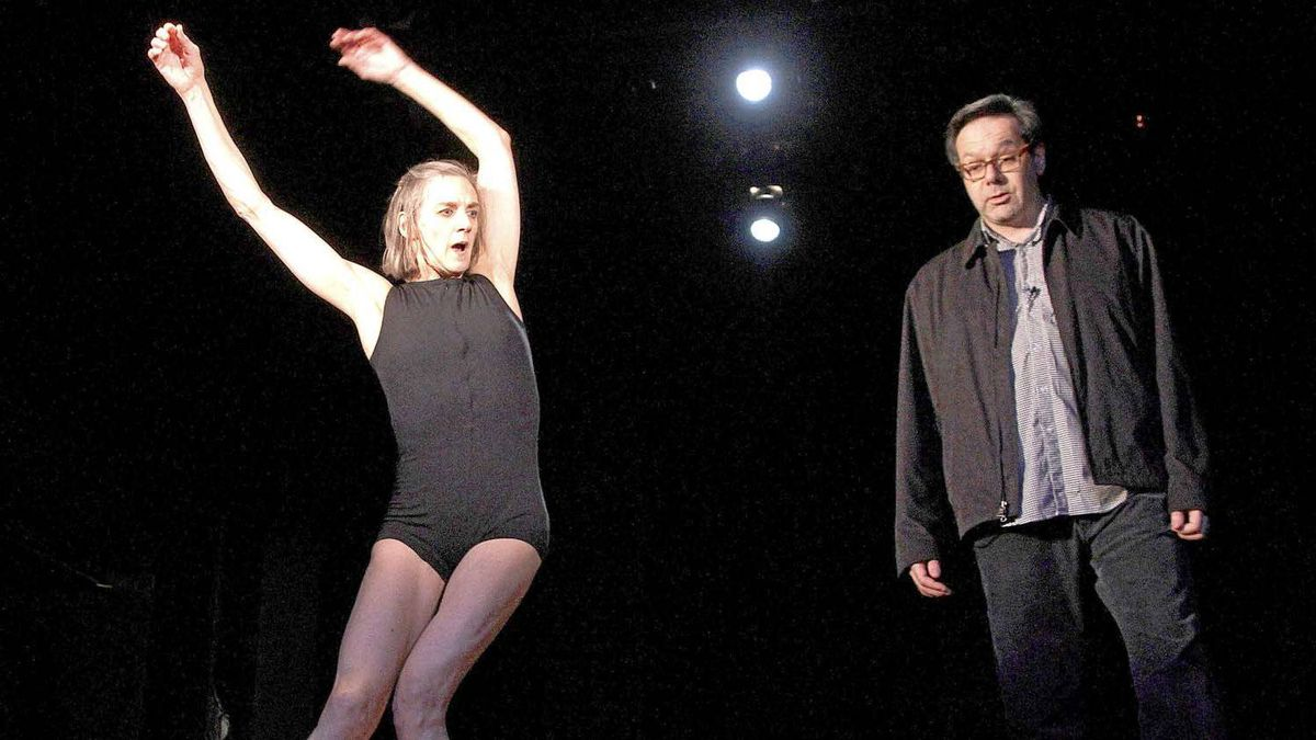 Dancer Peggy Baker and actor Michael Healey rehearsing at the Factory Theatre in Toronto last week.