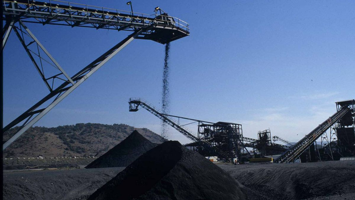 Xstrata Alloys' Thorncliffe mine stock piles in South Africa.
