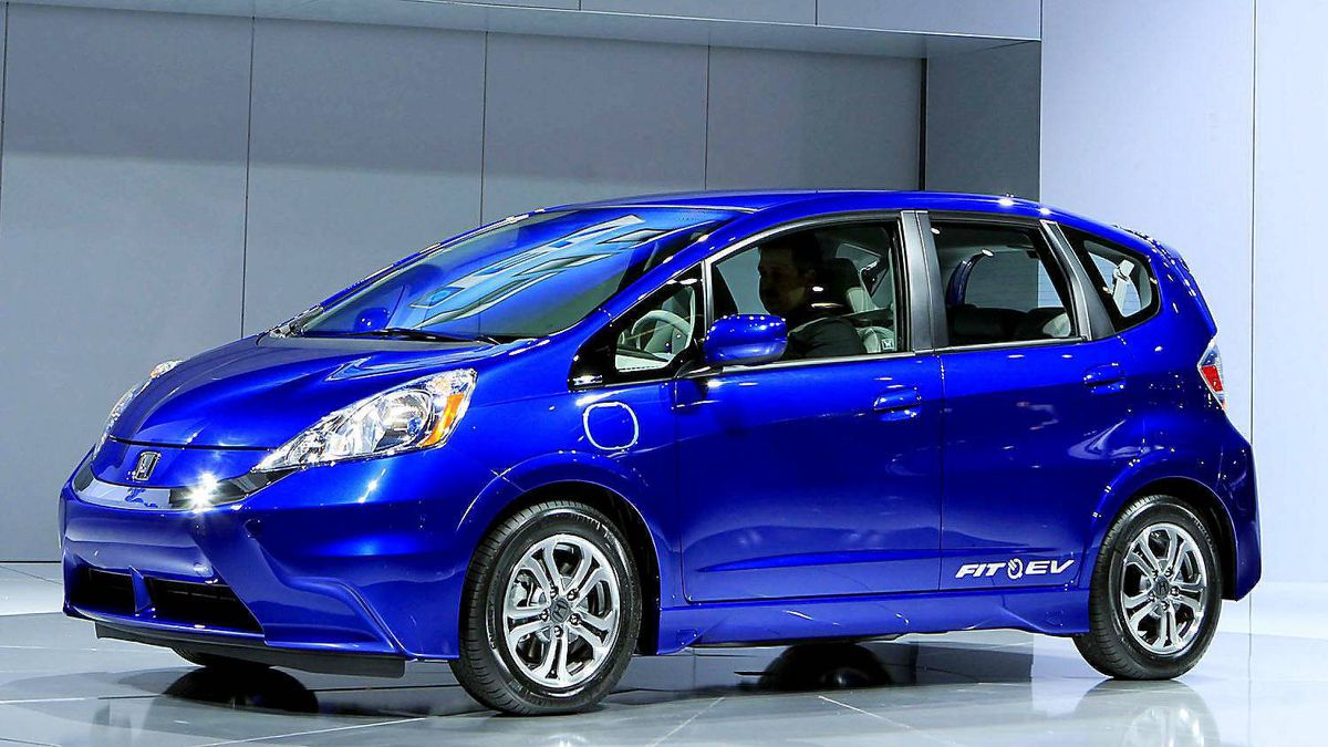 The Honda Fit EV is unveiled at the LA Auto Show