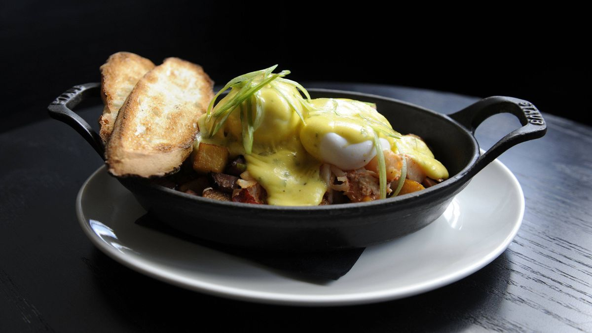 The Saint's lobster corned beef hash