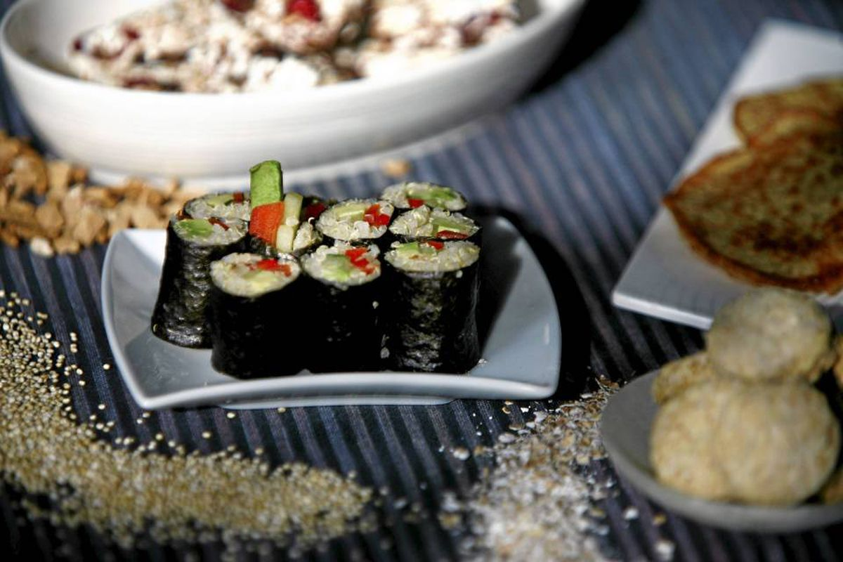 Get hooked on grains with fun, familiar foods such as quinoa sushi, Kashi Krispies and oatmeal pancakes.