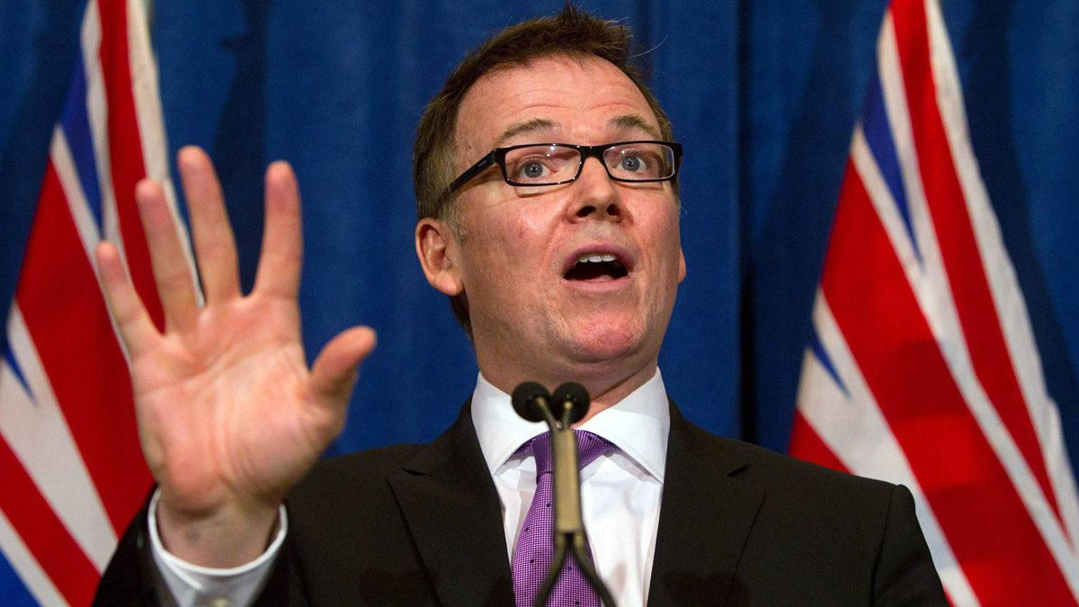 British Columbia Finance Minister Kevin Falcon speaks during a news conference in Vancouver, B.C., on Thursday April 14, 2011.