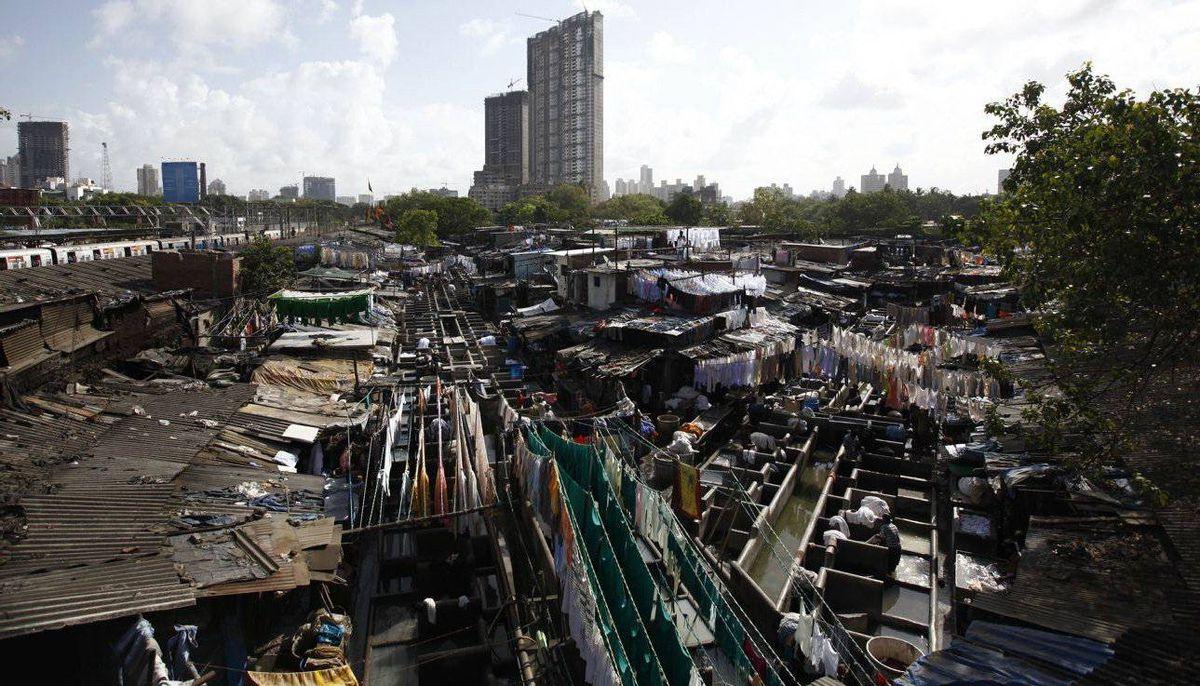 The Dhobi Ghat open air laundry in Mumbai.