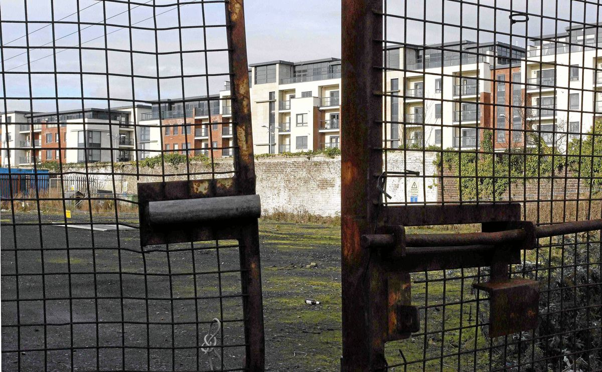 A deserted building site in Dublin: Ireland's request for easier payment terms on its €90-billion bailout was rejected.