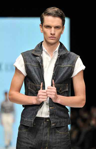 Nothing says homegrown fashion like the Canadian tuxedo; denim-on-denim got a restyling using a vest instead of the classic jean jacket.