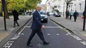 Gordon Campbell, the new Canadian High Commissioner to the United Kingdom of Great Britain and Northern Ireland, goes for a stroll in London on Nov. 2, 2011.
