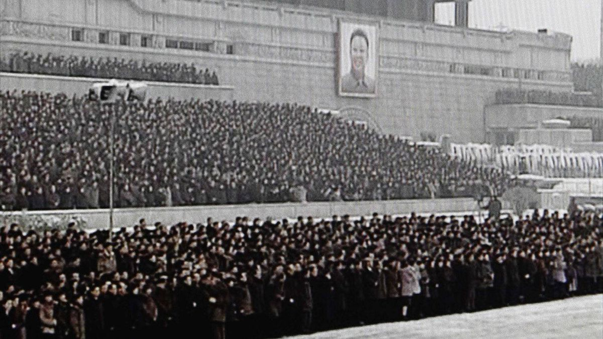 In this image made from KRT video, North Koreans wait for the funeral procession for late leader Kim Jong Il, in Pyongyang, North Korea Wednesday, Dec. 28, 2011.