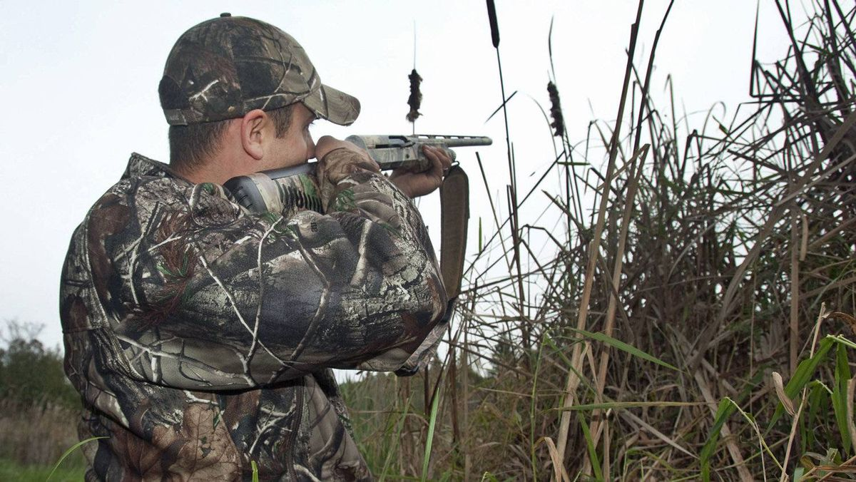 A hunter takes aim on his property near Fenelon Falls, Ont, on Octo 25, 2011.