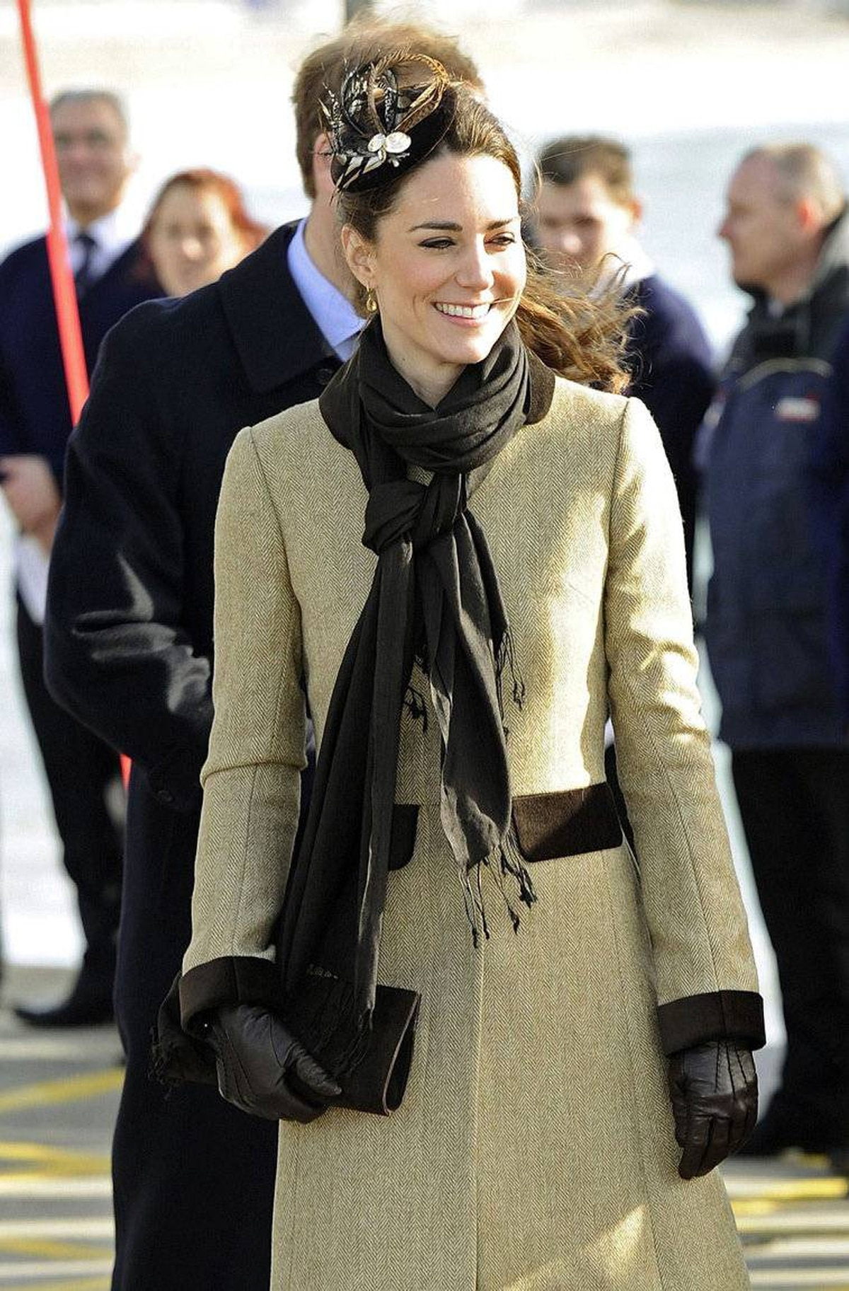 Prince William and Kate Middleton attend a Naming Ceremony and Service of Dedication for the Royal National Lifeboat Instution's (RLNI) new Atlantic 85 Lifeboat, the 'Hereford Endeavour', at Trearddur Bay Lifeboat Station, in Trearddur Bay, Anglesey in north Wales February 24, 2011.