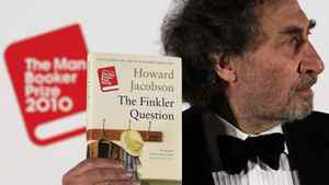 Howard Jacobson after winning the Man Booker Prize in London on Tuesday.