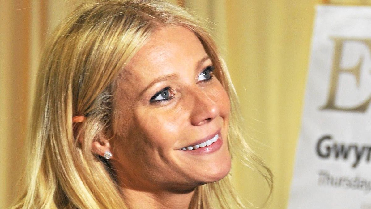 Actress Gwyneth Paltrow promotes her new book My Father's Daughter: Delicious, Easy Recipes Celebrating Family And Togetherness at a bookstroe in New York on April 14, 2011.