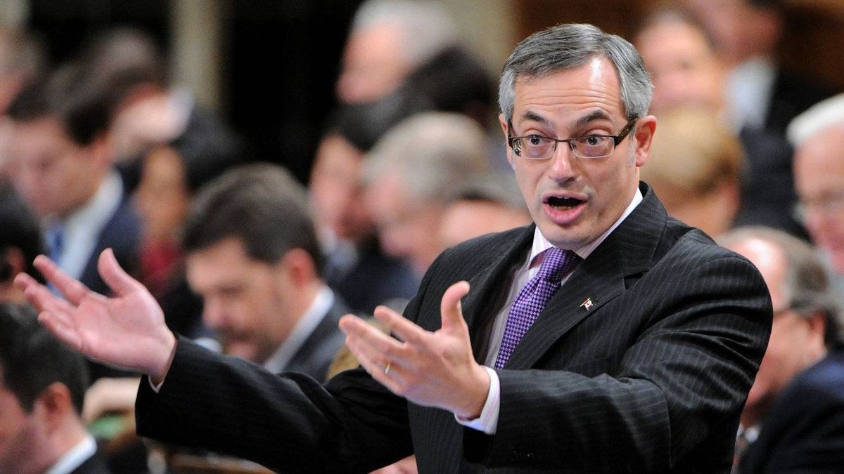 President of the Treasury Board Tony Clement stands during question period in the House of Commons on Parliament Hill in Ottawa on Tuesday, Nov. 29, 2011.