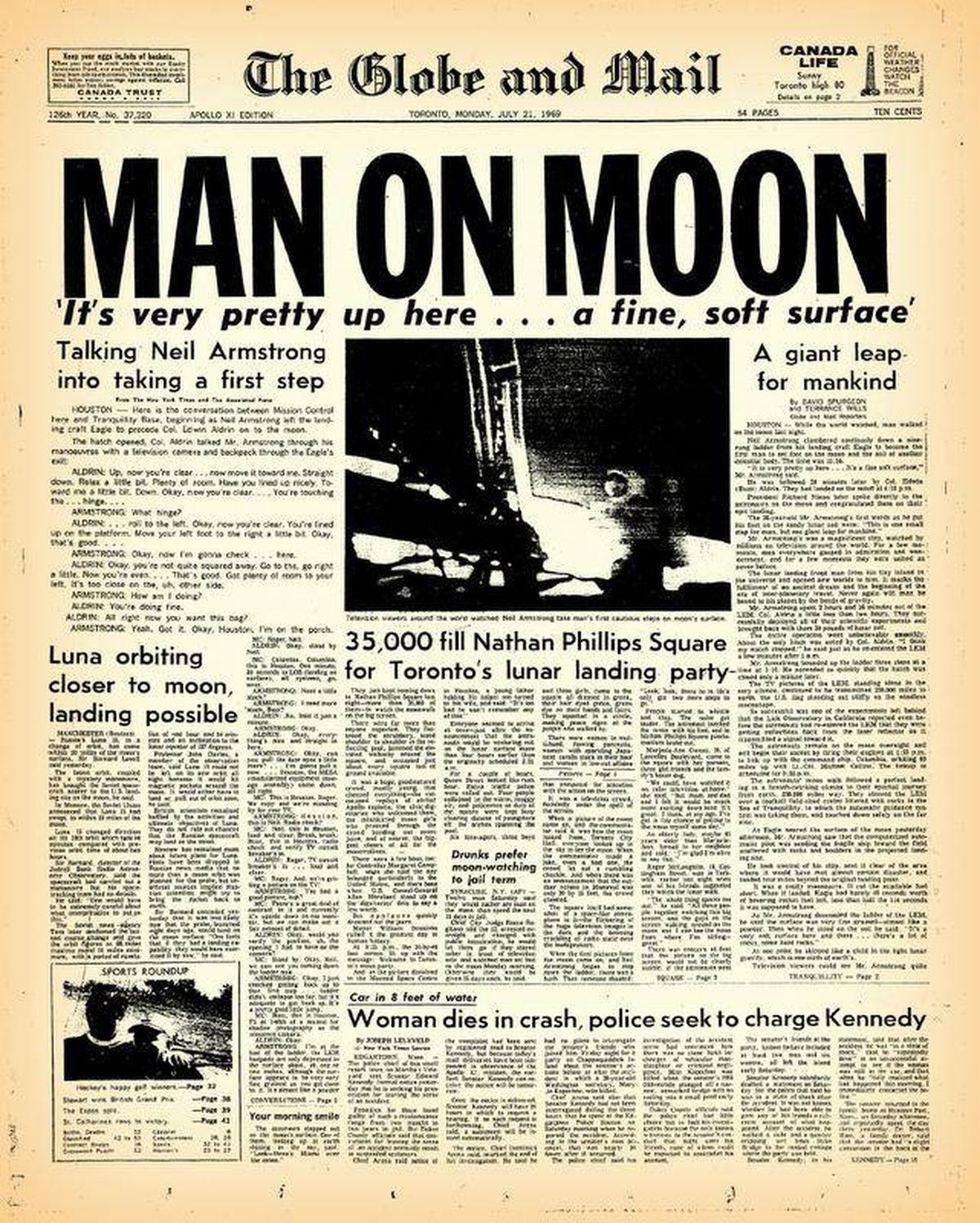 The major league baseball games that were played while ...  |Huntsville Newspaper Moon Landing