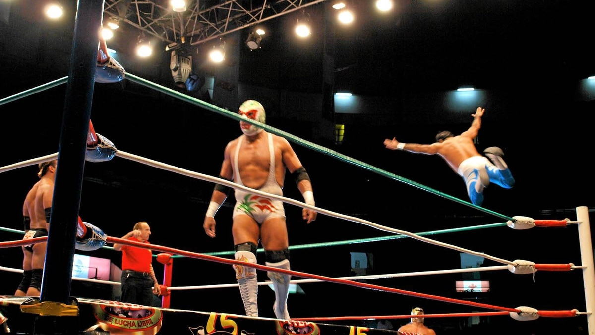 Friday nights at ArenaMexico are part Cirque, part WWE.