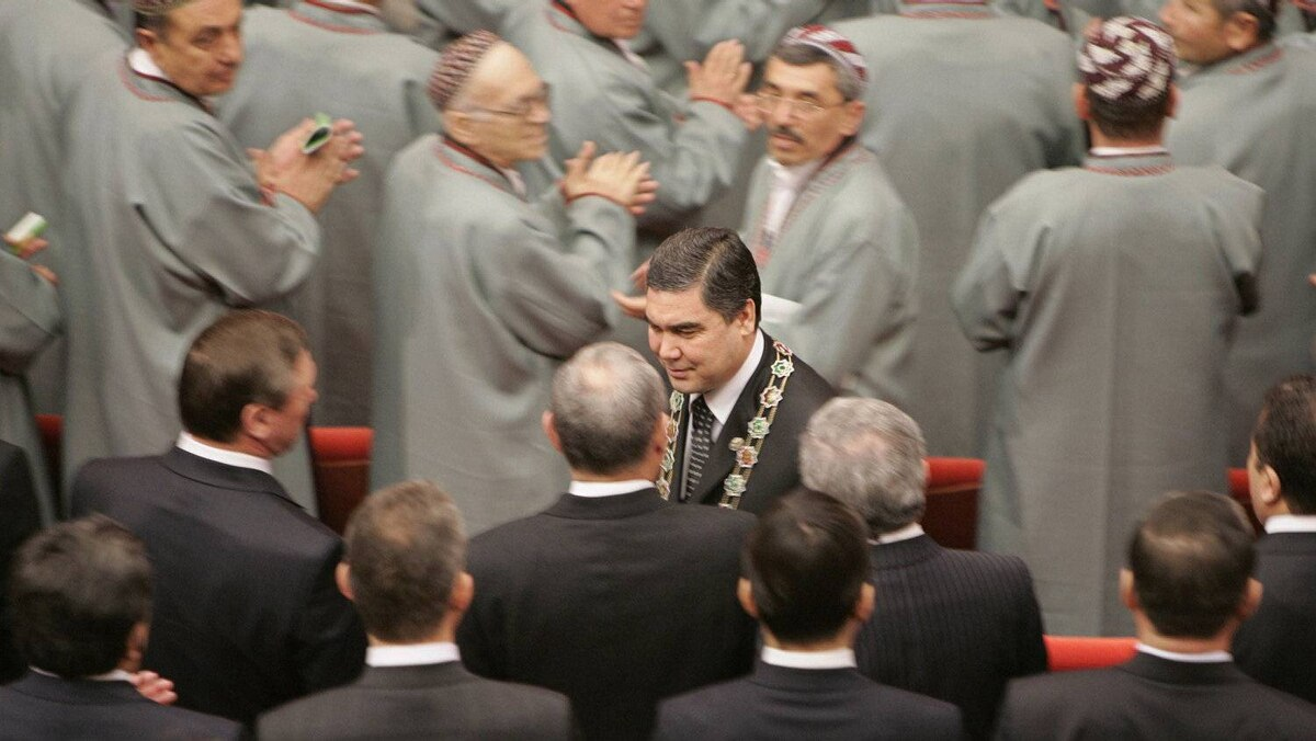 Turkmenian president Kurbanguly Berdymukhamedov, enjoys virtually unlimited powers in his desert country, where there is no opposition or independent media, and his word is final.