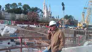 Construction Cleaners Group founder and chief executive officer John Radford on site at Walt Disney World's Fantasyland expansion, where his company is doing the cleaning.