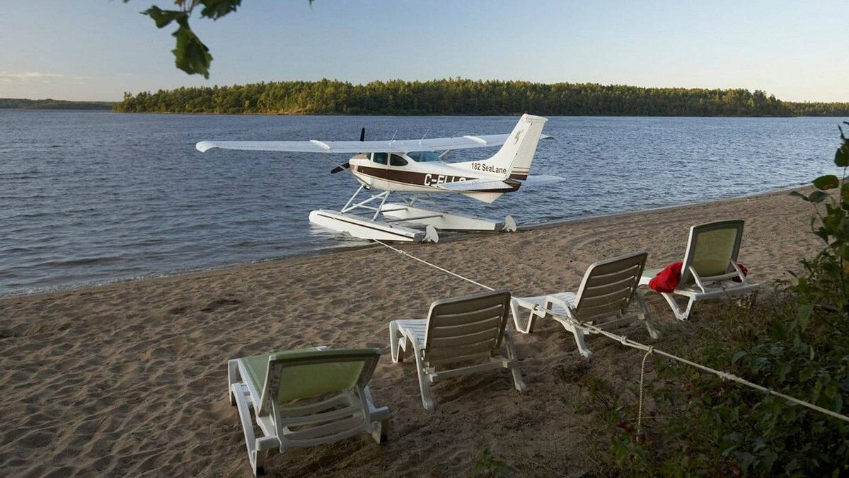 Dax Wilkinson's plane sits at the edge of the beach. While Mr. Wilkinson would not say how much he paid for his half-share of the amphibious single-engine Cessna 182 bush plane, asking prices for similar planes currently run from about $190,000 to $280,000, he says.