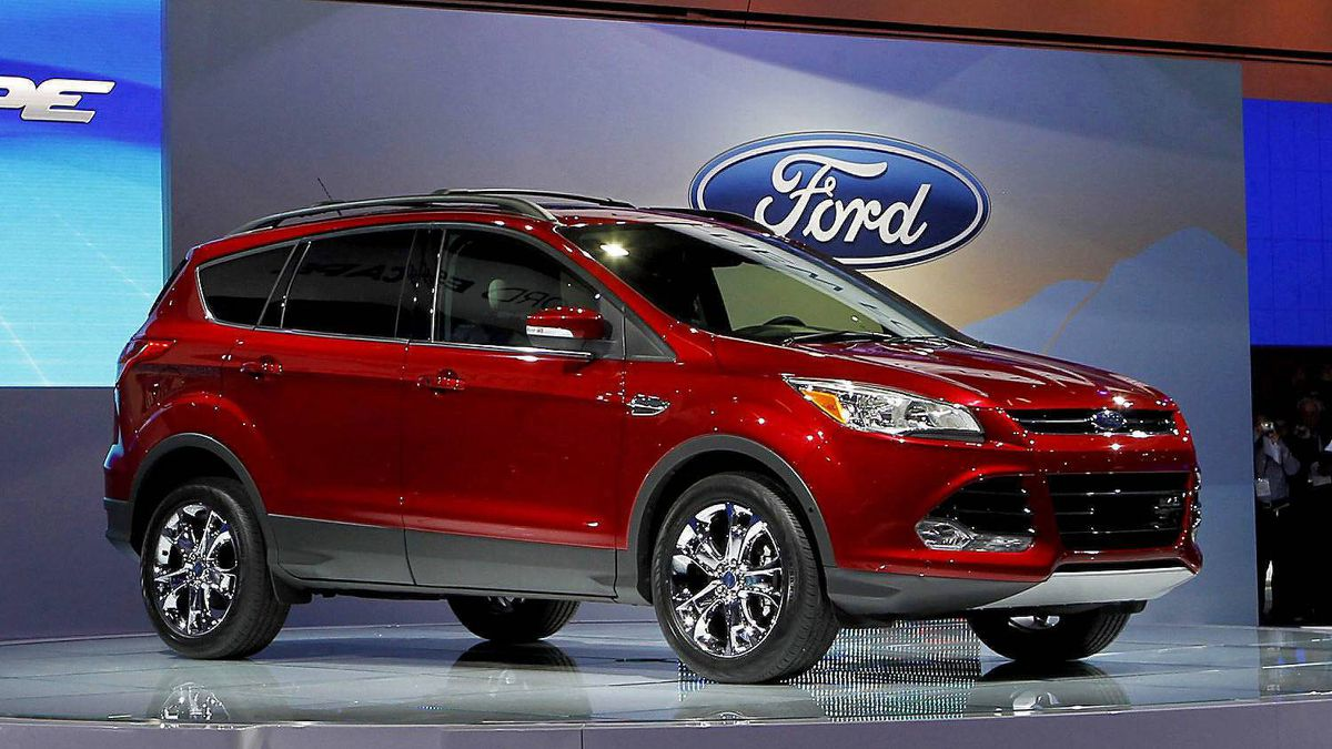 The newly-designed 2013 Ford Escape is unveiled at the LA Auto Show in Los Angeles