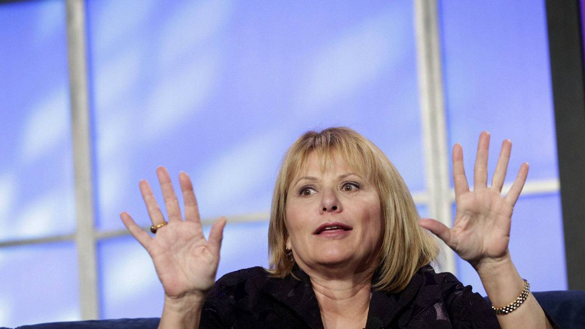 Yahoo Chief Executive Carol Bartz responds to a question during her appearance at the Web 2.0 Summit in San Francisco, California in this November 16, 2010 file photo.