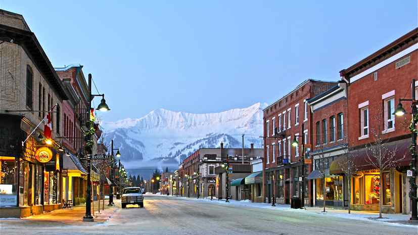 Fernie's century-old buildings downtown are being turned into restaurants, boutiques and lofts.