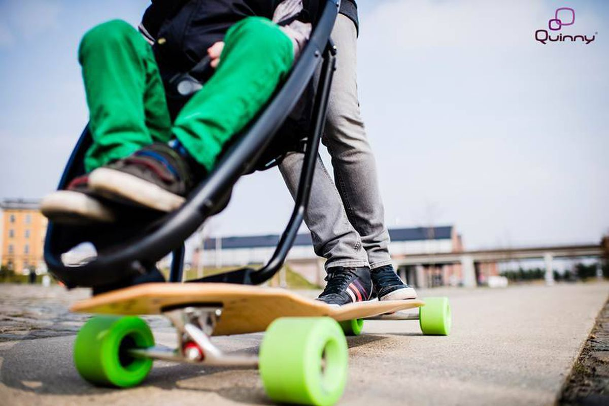 would you cruise on this skateboard stroller with your baby the