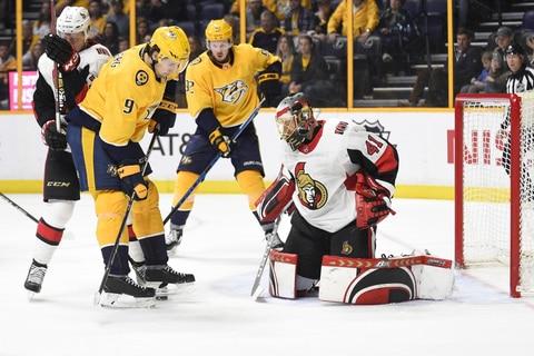 Arvidsson scores twice, Predators beat Senators 5-2