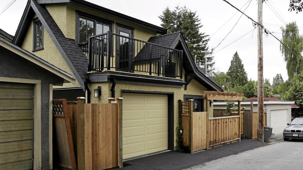 A newly built laneway house in West Vancouver, BC, June 21-2010.