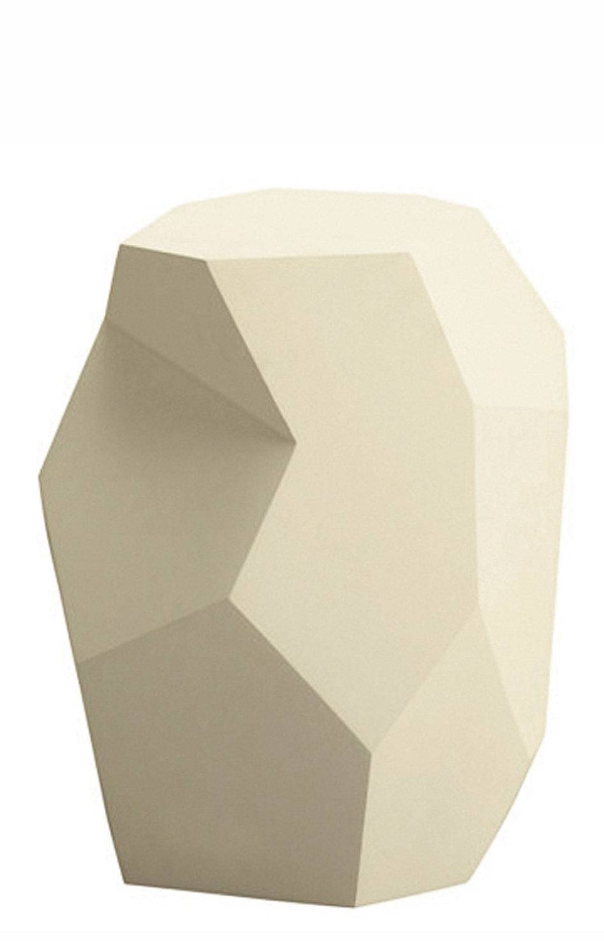 Barbara Barry Quarry Accent Table in Matte Pearl Gesso, $1,395 at studio b (www.studiobhome.com).