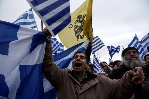 Hundreds of thousands protest possible name deal with Macedonia in Athens