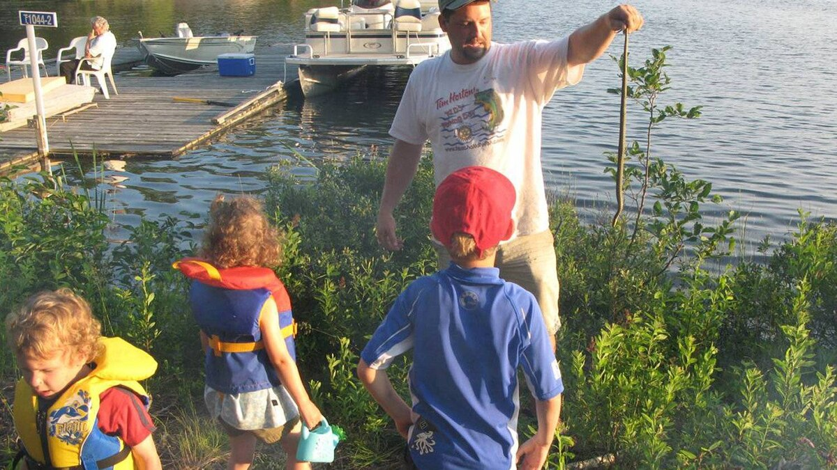 Husband Andrew Zyp, kids and cousins find success on a snake hunt.