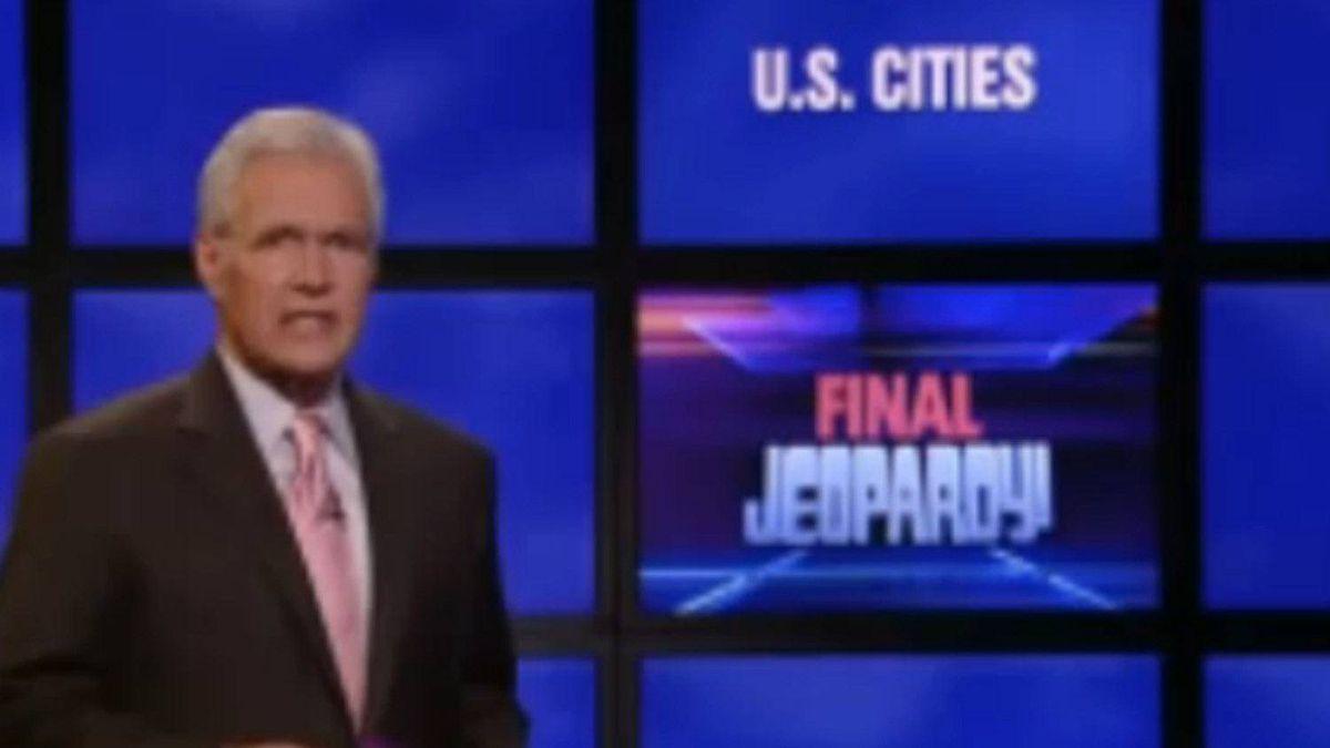 Host Alex Trebek on Jeopardy