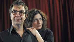 Atom Egoyan and Arsinee Khanjian on the set of Cruel and Tender.
